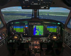 New King Air 350/200 G1000 Level-D Simulator - Interior