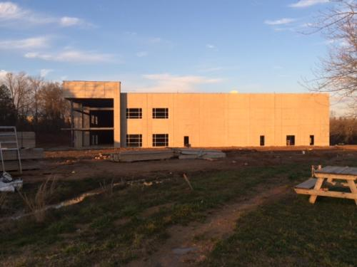 New Training Center  2016 - Roof being completed 4