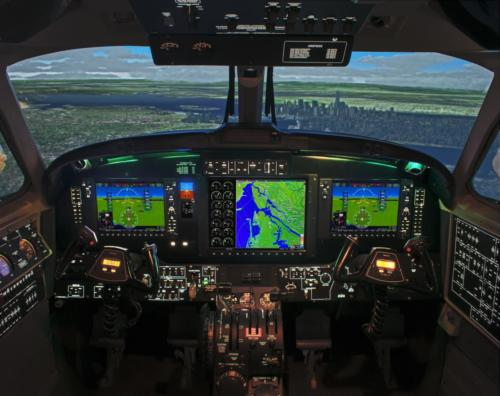 New King Air 350/200 G1000 Level-D Simulator – Interior
